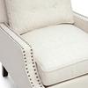 Wondrous Norwich Modern Club Chair Nail Heads Buttons Beige Linen Gamerscity Chair Design For Home Gamerscityorg