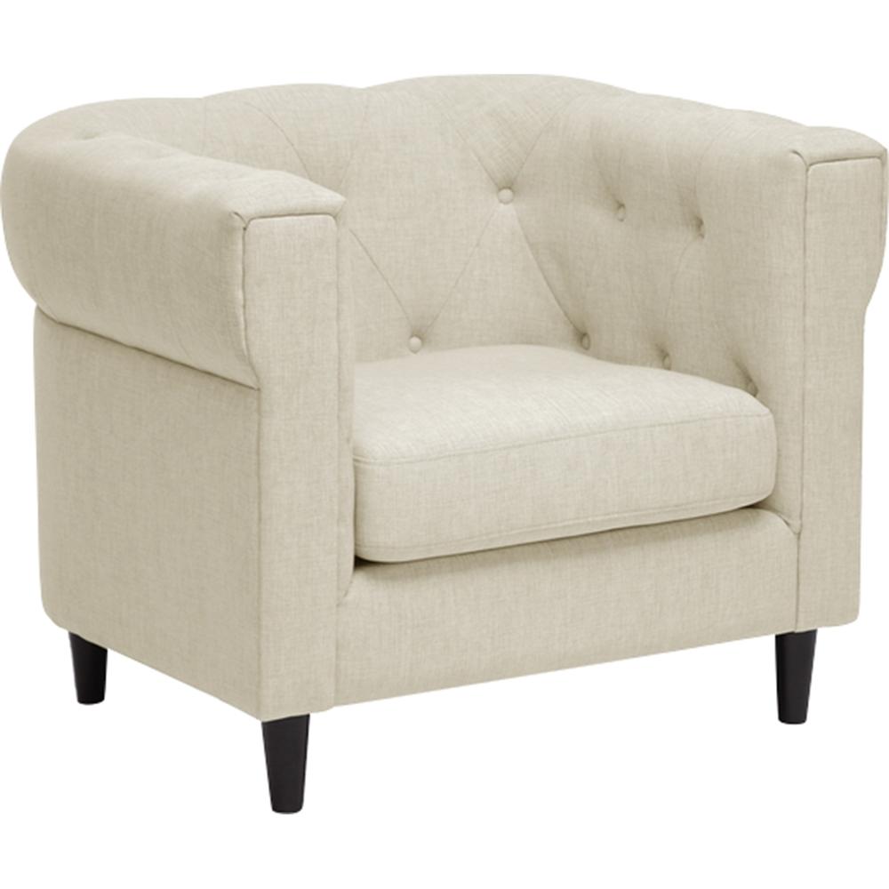 Cortland 2 Piece Linen Chesterfield Sofa Set Button