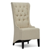 Vincent High Wingback Chair - Button Tufts, Beige Linen - WI-BH-A32386-BEIGE-AC
