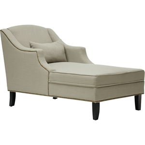 Asteria Linen Chaise Lounge - Gray