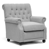 Moretti Club Chair - Button Tufts, Nail Heads, Light Gray Linen - WI-BH201210-7028-L003-GRAYISH-BEIGE-CC