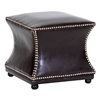 Brilliant Ellastone Concave Ottoman Nail Heads Dark Brown Leather Caraccident5 Cool Chair Designs And Ideas Caraccident5Info