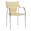 Harris Modern Dining Chair - Stackable, Chrome Steel Frame, Ivory - WI-BLC-133-IVORY-DC2