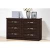 Colburn 6 Drawers Storage Dresser - Dark Brown - WI-BR888003-WENGE
