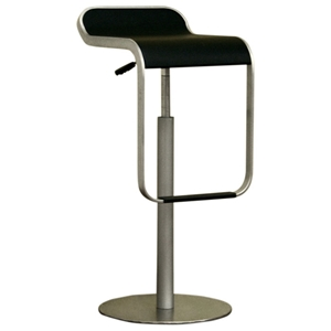 Black Adjustable Height Bar Stool