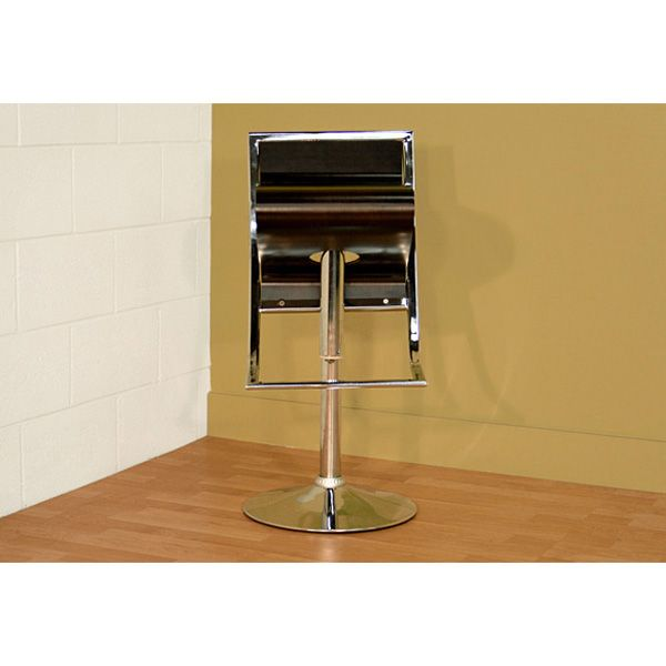 Mod Design Adjustable Swivel Bar Stool - Chrome, Brown Seat