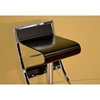 Mod Design Adjustable Swivel Bar Stool - Chrome, Brown Seat - WI-BS-322