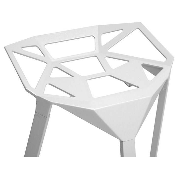kaysa modern aluminum bar stool stackable white wibs
