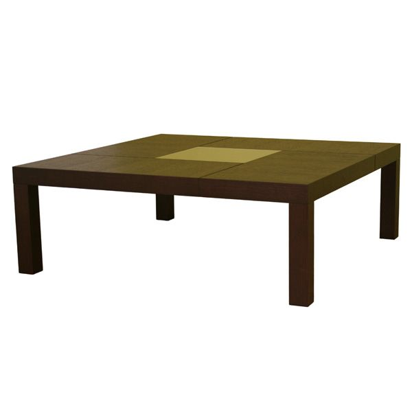 Roulette oak coffee table with center glass dcg stores for Table tv a roulettes