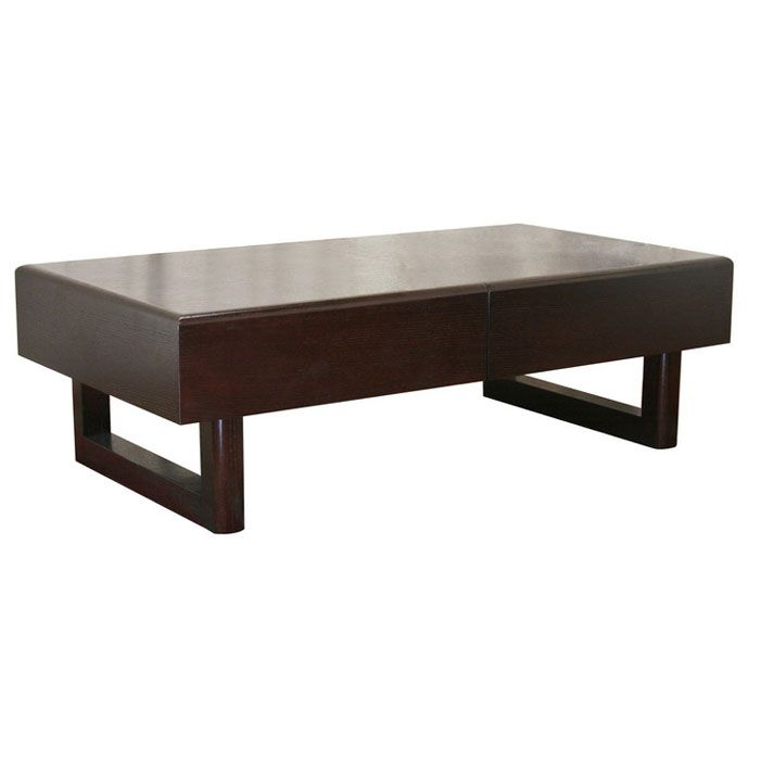 Geneva Dark Brown Coffee Table With Hidden Storage Dcg Stores