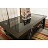 Breiter Wenge Wood and Glass Coffee Table - WI-C138-WE