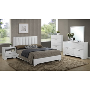 Carlson 5-Piece Queen Bedroom Set - White