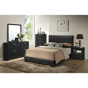 Carlson 5-Piece Queen Bedroom Set - Black