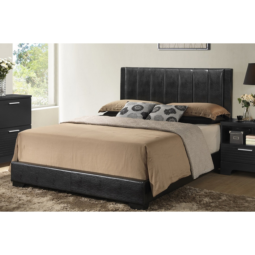 Carlson 5 piece queen bedroom set black dcg stores for Bedroom 5 piece sets