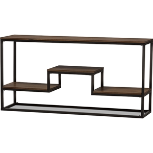 Doreen Console Table - Brown, Black