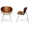 Reaves Wood Accent Chair - Walnut Finish, Chrome Steel (Set of 2) - WI-CA425-CA305-BR2-BROWN-2-AC