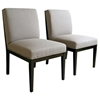 Catalina Taupe Twill Dining Chair with Dark Wood Legs - WI-CATALINA-CH-WE