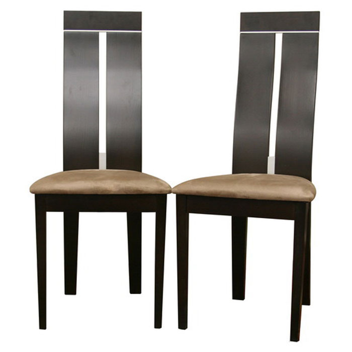 Magness wenge modern dining chair dcg stores for Modern high back dining chairs