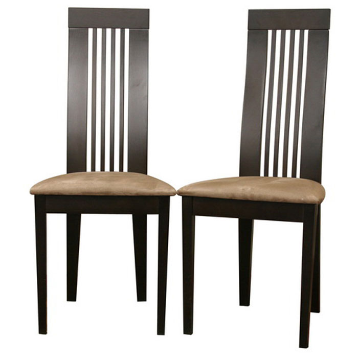 Farrington wenge modern dining chair dcg stores for Modern wooden dining chairs