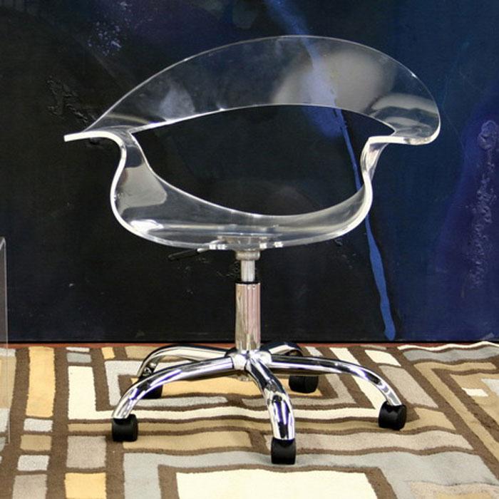 acrylic office chair. elia clear acrylic swivel office chair wicc026aclear i