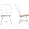 Longford Dining Chair - Walnut Brown, White (Set of 2) - WI-CDC271-DS2-WWXX