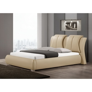 Malloy Queen Platform Bed - Taupe