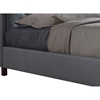 Fawner Fabric Upholstered Queen Bed - Gray - WI-CF8535-QUEEN-GRAY