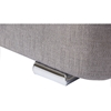 Camile Fabric Upholstered 4 Drawers Storage Platform Bed - Tufted, Gray - WI-CF8545-GRAY