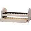 Alessia Upholstered Daybed - Guest Trundle Bed, Beige - WI-CF8751-BEIGE-DAY-BED
