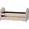 8dde7eb529a4 Alessia Upholstered Daybed - Guest Trundle Bed, Beige - WI-CF8751-BEIGE- ...