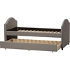 Alessia Upholstered Daybed - Guest Trundle Bed, Gray - WI-CF8751-GRAY-DAY-BED