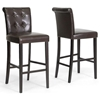 Torrington 30'' Bar Stool - Button Tufted, Dark Brown - WI-CH2-DARK-BROWN-PSTL