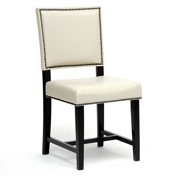 Nottingham Dining Chair - Nail Heads, Cream - WI-CH6-CREAM-DC