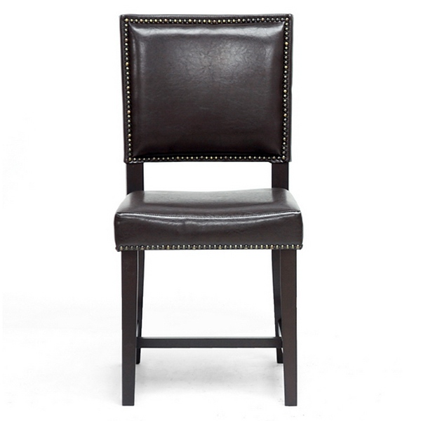 Nottingham dining chair nail heads dark brown dcg stores