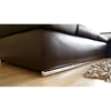 Champagne Leather Sofa with Chaise  in Dark Brown - WI-CHAMPAGNE-2SEATER-DAYBED