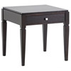 Haley Wood End Table - Dark Brown Finish, 1 Drawer - WI-CHW35900-40