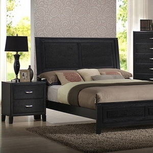 Eaton 5-Piece Queen Bedroom Set - Raised Panel Bed, Black