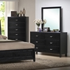 Eaton 5-Piece Queen Bedroom Set - Raised Panel Bed, Black - WI-CJ-5-5PC-BEDROOM-SET
