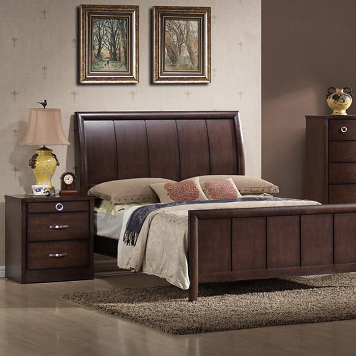 Argonne 5 piece queen bedroom set sleigh bed wenge wood - 5 piece queen sleigh bedroom set ...
