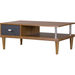 Eastman 1 Drawer TV Stand - Brown and Dark Brown