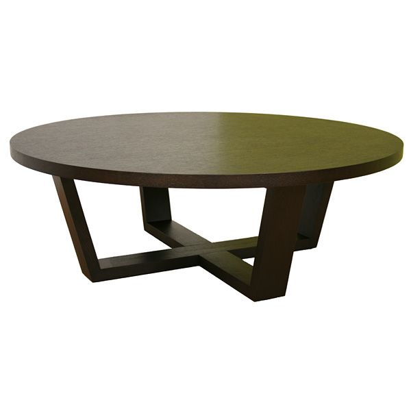 Round Coffee Table Oak: Chasity Black Stained Oak Round Coffee Table