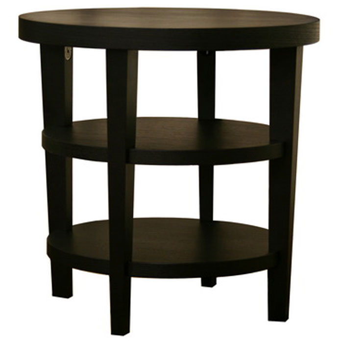 Charleston Modern Black Wood End Table Dcg Stores