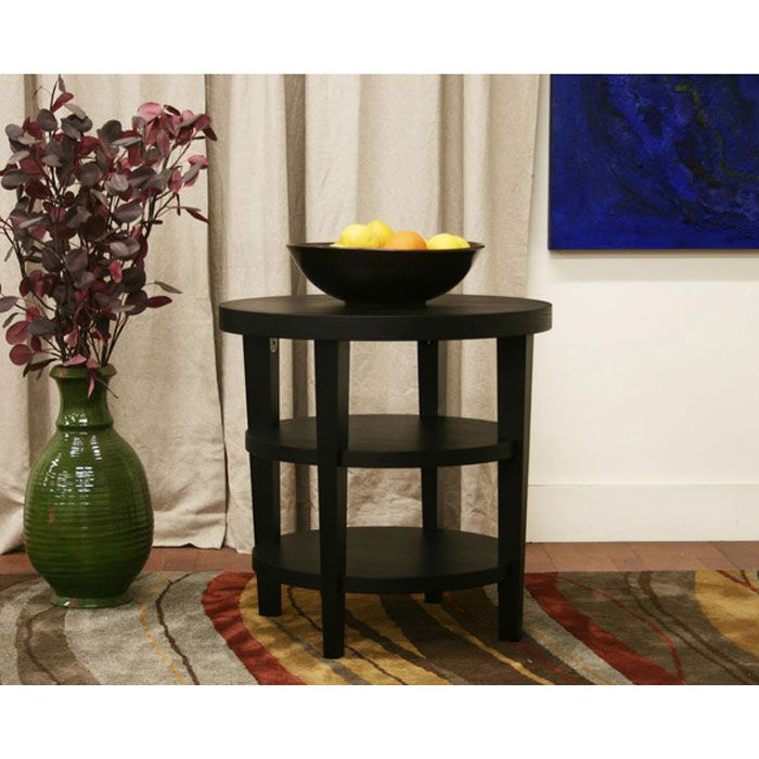 Charleston Modern Black Wood End Table - WI-CT-112-BLK