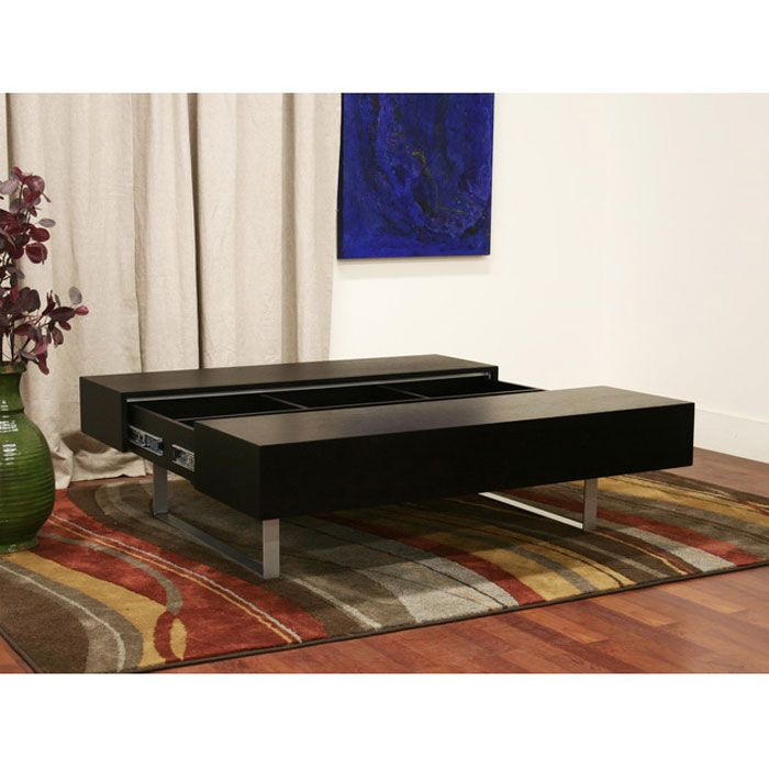 Noemi Black Wood Coffee Table With Storage Dcg Stores