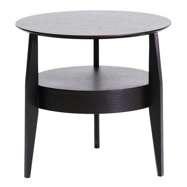 Gretton black wood round end table dcg stores for Black wood end tables