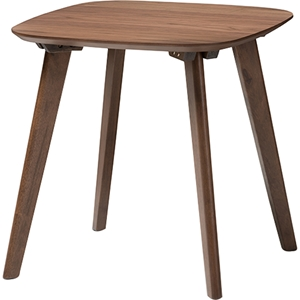 Dahlia Wood End Table - Walnut