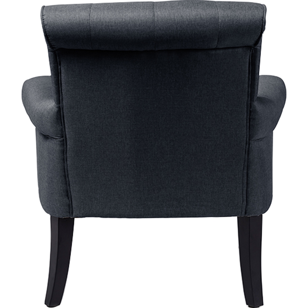 Barret Upholstered Rolled Arm Accent Club Chair Button