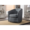 Porter Upholstered Swivel Tub Chair - Gray - WI-DB-182-GRAY