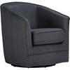 Stupendous Porter Upholstered Swivel Tub Chair Gray Camellatalisay Diy Chair Ideas Camellatalisaycom
