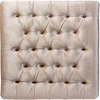 Edna Square Microsuede Upholstered Ottoman Bench - Button Tufted, Beige - WI-DB-190-BEIGE